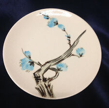RED WING POTTERY DRIFTWOOD BREAD & BUTTER PLATE 6 5/8' BLUE FLOWERS TEXTURED
