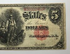 1907 United States Note $5 Wood Chopper Note Red Seal Speelman White Fr-91