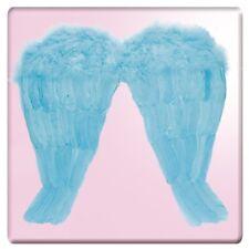 Ali azzurre 45x46 cm in piuma con bretelle