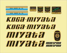 KOGA MIYATA ROAD SPEED 1980 FRAME DECAL SET