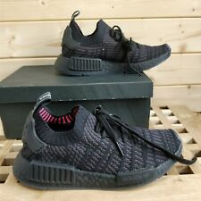 BNWL genuine Adidas Mens NMD_R1 STLT Primeknit Black Trainers UK 4 CQ2391