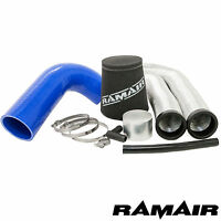 106 Gti & Saxo VTS RAMAIR Admission Air Filtre Kit - Bleu Tuyau Silicone