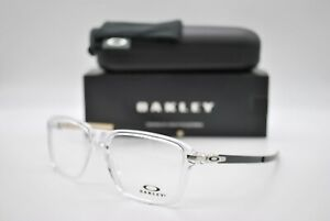 NEW OAKLEY OX8166-0254 WHEEL HOUSE POL CLEAR AUTHENTIC EYEGLASSES FRAME RX 54-16