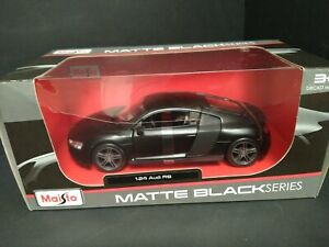 1:24 Audi R8 new box by Maisto. Matte black series