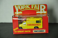 EMERGENCY VEHICLE 1997 MATCHBOX COLLECTIBLES YORK FAIR 1:64 DIE-CAST new in box