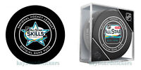 2019 NHL ALL STAR GAME SAN JOSE OFFICIAL GAME PKG of 2 HOCKEY PUCK  w/cube