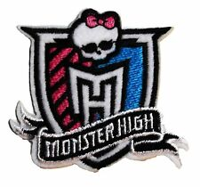 """Mattel's MONSTER HIGH Logo Crest 2 1/2"""" Tall Embroidered PATCH"""