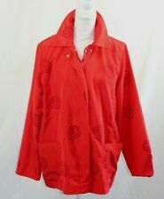 Vintage 80s Women's Style & Beyond Red Reversible Career Jacket Size Large