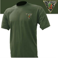T-Shirt vert armée  brodé 2°REP LÉGION ÉTRANGÈRE - Taille M / 96