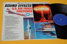 LP SOUND EFFECTS U S AIR FORCE FIREPOWER ORIG USA 1962 NM ! CARTONATA TOP