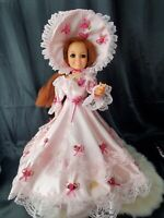 VINTAGE 1969 IDEAL CRISSY DOLL pink Victorian costume