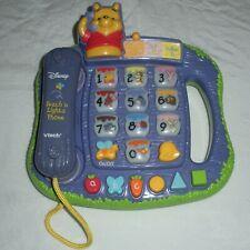 Vtech Disney Winnie the Pooh Teach N Lights Phone Toy Musical Educational Tested