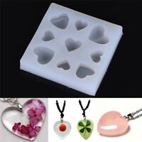 Hot Heart Shape DIY Silicone Mold For Resin Jewelry Making Crafts Mould Tools HU