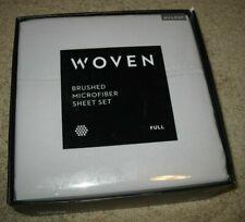 NEW Malouf Woven Brushed Microfiber Full (double) Sized Sheet Set Gray 4-piece