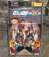 G I GI JOE 25TH ANNIVERSARY CRIMSON GUARD TOMAX & XAMOT FIGURE COMIC 2 PK MOC