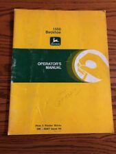 John Deere 1550 Backhoe OMA38967 Operator manual book