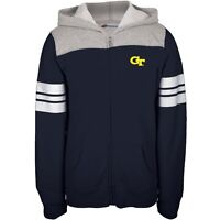 Georgia Tech Yellow Jackets - Game Day Sports Stripes Girls Youth Zip Hoodie