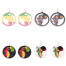Art Jewelry for Party Special Gift African Map Shape Drop Earrings for Women