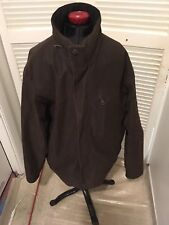 Michael Kors Mens Brown Zip Up Insulated Hooded Polyester Jacket Coat Size M