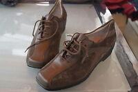 WALDLÄUFER Damen Comfort Schuhe Schnürschuh Leder m Einlagen oliv Gr.5,5 G 38 39