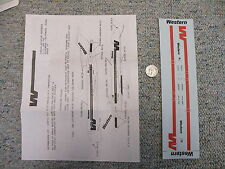 Fowler Aviation 1/144 decals Western Airlines Boeing 727 w/ Fowler CF-1   M100