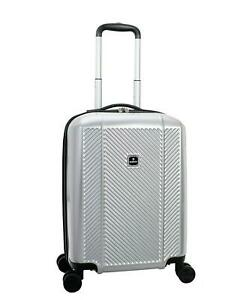"""TAG Spectrum 20"""" Carry-On Silver Luggage Suitcase 6009"""