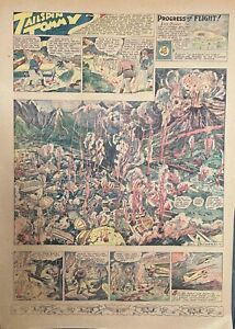 15 TAILSPIN TOMMY Sunday pages by Hal Forrest - 1932 MAYAN SEQUENCE, Dirigible