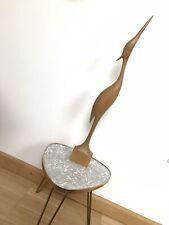 XXL MID CENTURY Kranich Reiher 50 cm 60er 70er Vintage Holz