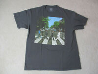The Beatles Abbey Road Concert Shirt Adult Extra Large Gray Blue Rock Tour Mens