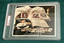 TED WILLIAMS SIGNED 8X10 COLLAGE PHOTO PSA/DNA ENCAPSULATED RED SOX HOF AUTO