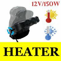 12V Car Cigarette Lighter Heater Cooling Fan Windscreen Defroster Demister Black
