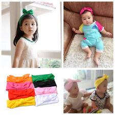 8x Newborn Baby Rabbit Bow Hair Band Kids Headdress Girl Headband Elastic mn