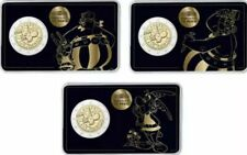 More details for france 🇫🇷3x different coincard 2€ euro 2019 comm. 55y asterix new bunc low min