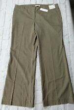 New York And Company Dress Pants Womens Size 14 Petite Stretch Brown Pinstripe
