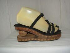 7dafdd74c853 Sandales de Fabrication Artisanale P.37 38 Velours noir et bois