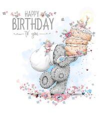 Carte D'anniversaire - Joyeux Anniversaire - Ours Avec Gâteau - Me To You (A33)