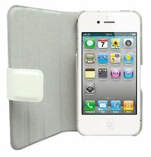 Omenex 730744 - Custodia flip per iPhone 4S, bianco (x7I)