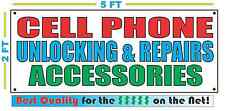 CELL PHONE UNLOCKING REPAIRS ACCESSORIES Banner Sign Size Best Price for The $$$