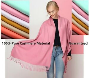 100% Pure Cashmere Scarf Women Ladies Winter Warm Long Soft Wool Shawl Wrap Knit