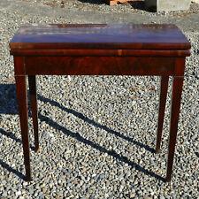 Table à jeux en acajou, époque Restauration ancien XIXème