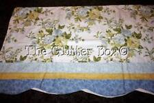 Shabby Cottage Chic Curtain Valance 84x18 JC Penny Home Blue Yellow B13