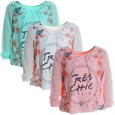 Mädchen-Tops, - T-Shirts & -Blusen aus Mischgewebe mit Blumenmuster