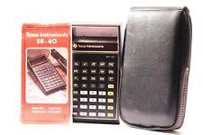 Texas Instruments SR-40 Slide Règle calculatrice années 1970 DEL Rouge