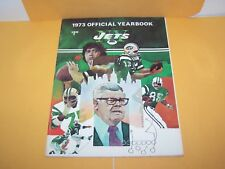 1973 NEW YORK JETS N.Y. YEARBOOK NFL FOOTBALL JOE NAMATH COVER