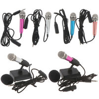 Portable 3.5mm Stereo Studio Mic KTV Karaoke Mini Microphone For Cell PhoneW FL