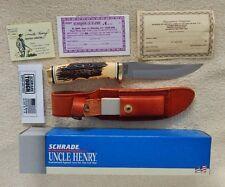 Schrade+ USA 153UH Golden Spike Knife With Staglon  Handles
