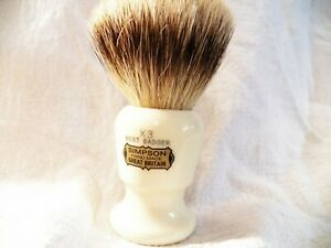 Commodore Best Badger Brush- Simpson Shaving Brushes - Faux Ivory Handle (X3 ...