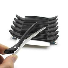 12Pcs/Set  Women Black Hair Claw Hairdressing Salon Style Duckbill Clips Clamps
