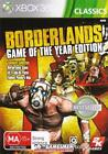 Borderlands: Game Of The Year Edition (Microsoft Xbox 360, 2010) CLASSICS 2 Disc