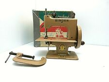 Vintage Singer Sewing Machine Sewhandy No 20 Child's Toy Tan Great Britain